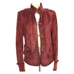 "Yves Saint Laurent Burgundy Suede ""Biker Jacket"""